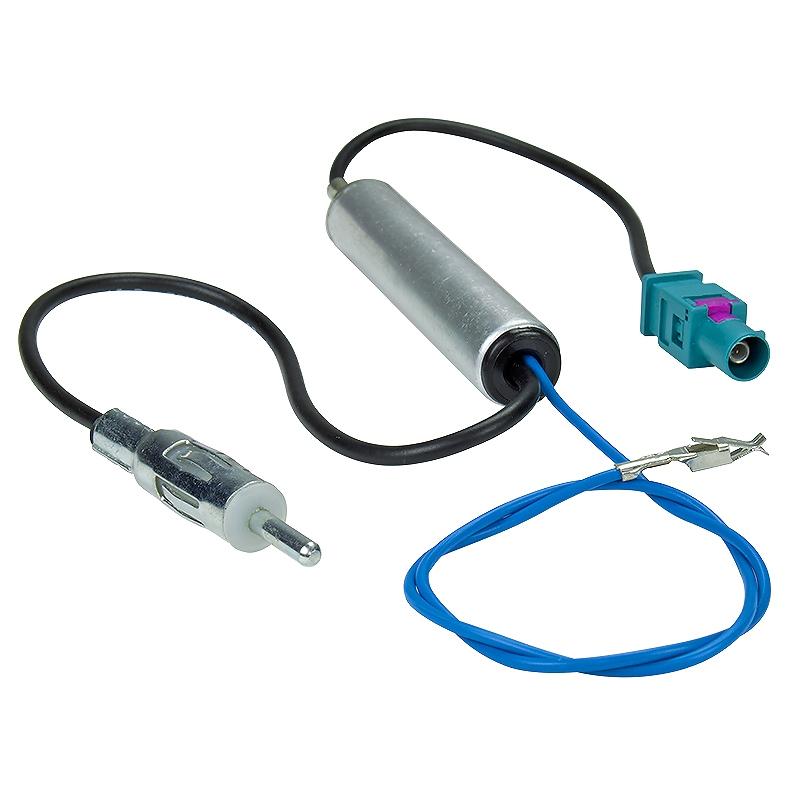 Antennen - Adapter Phantomeinspeisung Audi, Seat, Skoda, VW, Fakra (M) auf DIN-Anschluß 150 OHM