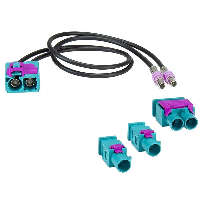 Antennenadapter 2x Fakra (M) > Doppelfakra / Fakra (F)