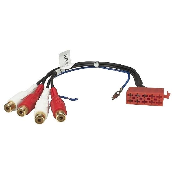 LINE-Out 10 pol. Vorverstärker Adapter Cinch 4-Kanal Remote