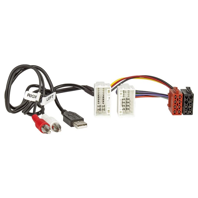 Radio-Adapterkabel Hyundai iX35 mit AUX und USB auf 16pin ISO