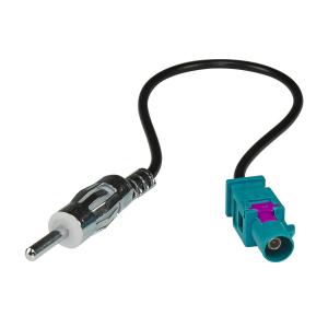 Radioblende Set kompatibel mit Ford KA RU8 Bj.2009-2017 schwarz mit Radioadapter ISO Fakra Antennenadapter DIN ISO