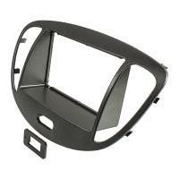 Doppel DIN 1DIN Radioblende kompatibel mit Hyundai i10 2008-2013 dunkelsilber