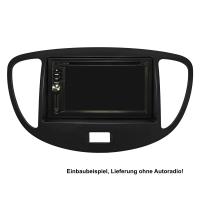 Doppel DIN Radioblenden Set kompatibel mit Hyundai i10 2008-2013 schwarz mit Einbaukit