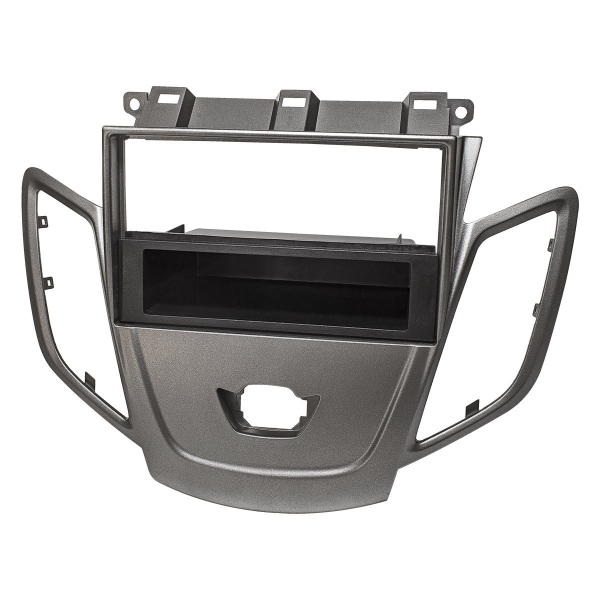 Radioblende kompatibel mit Ford Fiesta JA8 ab 2009-2017 dunkelsilber mit DIN Ablagefach ohne Display