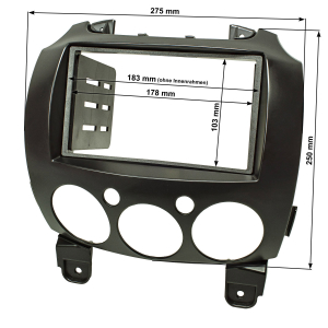 Doppel DIN Radioblende kompatibel mit Mazda 2 Typ DE ab...
