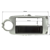 Radioblende kompatibel mit Toyota Yaris XP13 ab Bj.2011-2017 silber