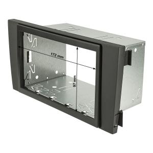 Doppel DIN Radioblende Set kompatibel mit Audi A6 C5 4B schwarz mit Einbaukit nur Modelle mit Symphony