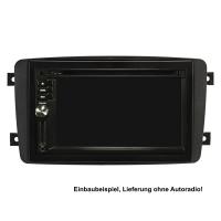 Doppel DIN Radioblende Set kompatibel mit Mercedes C-Klasse W203 S203 CL203 CLK C209 A209 Viano Vito schwarz mit Einbaukit