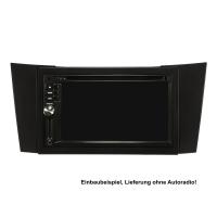 Doppel DIN Radioblende Set kompatibel mit Mercedes E-Klasse W211 schwarz mit Einbaukit