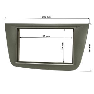 Doppel DIN Radioblende kompatibel mit Seat Altea FR XL...