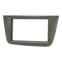 Doppel DIN Radioblende kompatibel mit Seat Altea FR XL Toledo 5P dunkelsilber