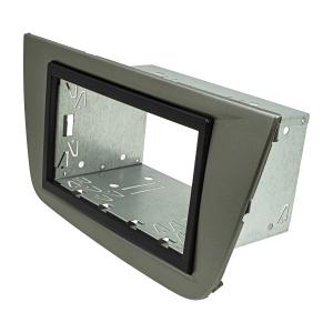Doppel DIN Radioblende Set kompatibel mit Seat Altea FR XL Toledo 5P dunkelsilber mit Einbaukit