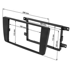 Doppel DIN Radioblende Set kompatibel mit Skoda Octavia II III Skoda Yeti schwarz mit Einbaukit