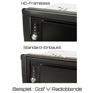 Doppel DIN Radioblende kompatibel mit VW Golf 5+6 Touran Passat 3C Caddy EOS Skoda Octavia Piano Lack schwarz