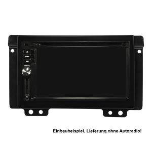 Doppel DIN Radioblende Set kompatibel mit Landrover Freelander LN Bj.2004-2006 schwarz mit Einbaukit