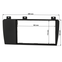 Doppel DIN Radioblende kompatibel mit Volvo S60 P24 XC70 P2 V70 P26 anthrazit-schwarz