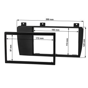 Doppel DIN Radioblende Set kompatibel mit Volvo S60 P24 XC70 P2 V70 P26 anthrazit-schwarz mit Einbaukit