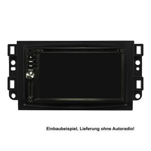 Doppel DIN Radioblende kompatibel mit Chevrolet Aveo Captiva Epica schwarz 2006-2011