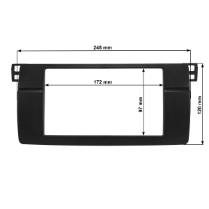 Doppel DIN Radioblende kompatibel mit BMW 3er E46 HQ-Optik