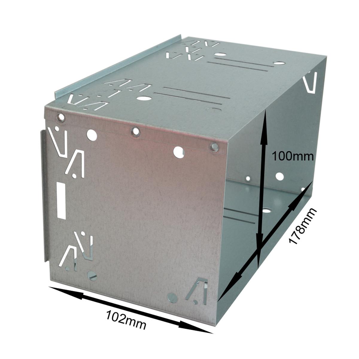 2din doppel din metal rahmen einbauschacht radioblende. Black Bedroom Furniture Sets. Home Design Ideas