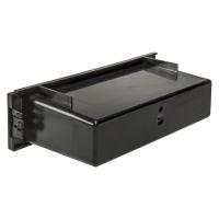 Ablagefach Schacht Kunststoff mit Auflagekante Höhe 50mm schwarz matt