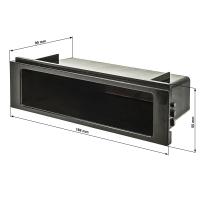 Ablagefach Schacht Kunststoff mit Auflagekante Höhe 50mm schwarz unlackiert