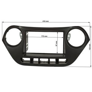 Doppel DIN Radioblende kompatibel mit Hyundai i10 2.Gen....