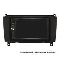 Doppel DIN Radioblende Set kompatibel mit Mercedes CLK W209 Facelift Bj.2004-2010 schwarz mit Einbaukit