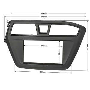 Doppel DIN Radioblende kompatibel mit Hyundai i20 ab 2014...