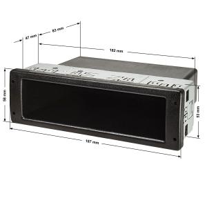 PROFI DIN ISO Ablagefach Schacht mit Metallkäfig,...