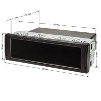 PROFI DIN ISO Ablagefach Schacht mit Metallkäfig, extrem stabil