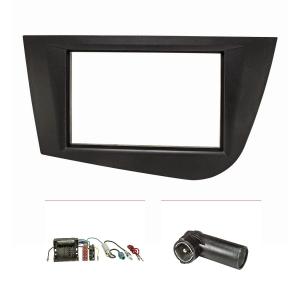 Doppel DIN Radioblende Set kompatibel mit Seat Leon 2...