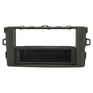 Radioblende Set kompatibel mit Toyota Auris E150 schwarz...