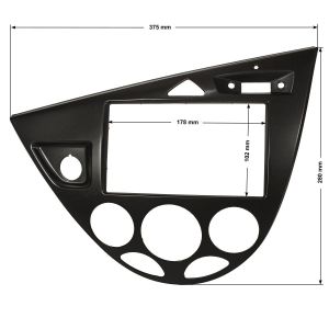 Doppel DIN Radioblende kompatibel mit Ford Focus 1 Gen....