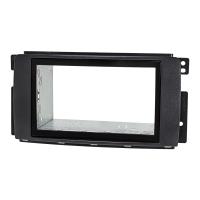 Doppel DIN Radioblende Set kompatibel mit Smart fortwo 451 forfour 454 schwarz mit Einbaukit