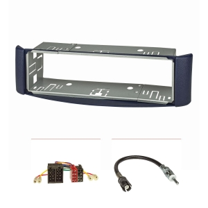 Radioblende (Set) für Smart fortwo (450) 1998-2007, blau,...