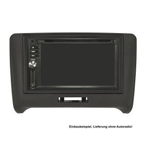 Doppel DIN Radioblende Set kompatibel mit Audi TT 8J Bj.2007-2014 anthrazit mit Einbaukit