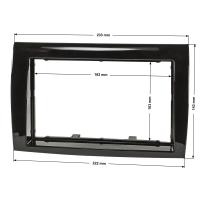 Doppel DIN Radioblende kompatibel mit Fiat Bravo (Typ 198) 2007-2014 Piano Lack schwarz