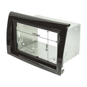 Doppel DIN Radioblende Set kompatibel mit Fiat Bravo 198...