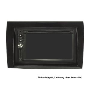 Doppel DIN Radioblende Set kompatibel mit Fiat Bravo 198 Bj.2007-2014 Piano Lack schwarz mit Einbaukit