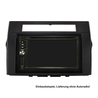 Doppel DIN Radioblende Set kompatibel mit Toyota Corolla Verso ZER/ZZE Bj.2004-2009 schwarz mit Einbaukit