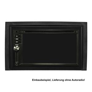 Doppel DIN Radioblende Set kompatibel mit Skoda Fabia 6Y Facelift Bj.2003-2006 schwarz mit Einbaukit
