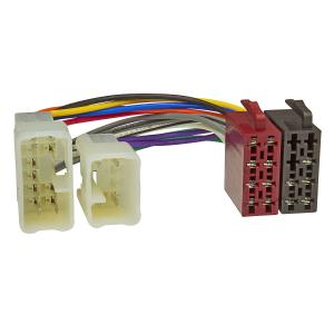 Doppel DIN Radioblende Set kompatibel mit Toyota Avensis T25 Bj.2003-2008 mit Einbaukit Radioadater ISO Antennenadapter ISO DIN