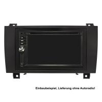 Doppel DIN Radioblende Set kompatibel mit Mercedes SLK R171 Bj.2004-2011 schwarz mit Einbaukit