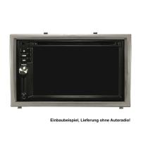 Doppel DIN Radioblende kompatibel mit Hyundai i20 2008-2011 schwarz silber