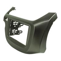 Doppel DIN Radioblende kompatibel mit Honda Jazz Fit 2008- 2013 dunkelsilber