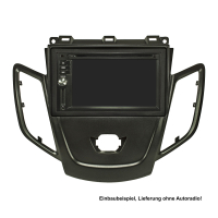 Doppel DIN Radioblende kompatibel mit Ford Fiesta JA8 ab 2009-2017 dunkelgraumetallic ohne Multifunktionsdisplay