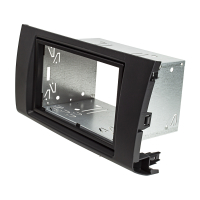 Doppel DIN Radioblende Set kompatibel mit Suzuki Swift MZ/EZ Bj.2005-2010 anthrazit / schwarz mit Einbaukit