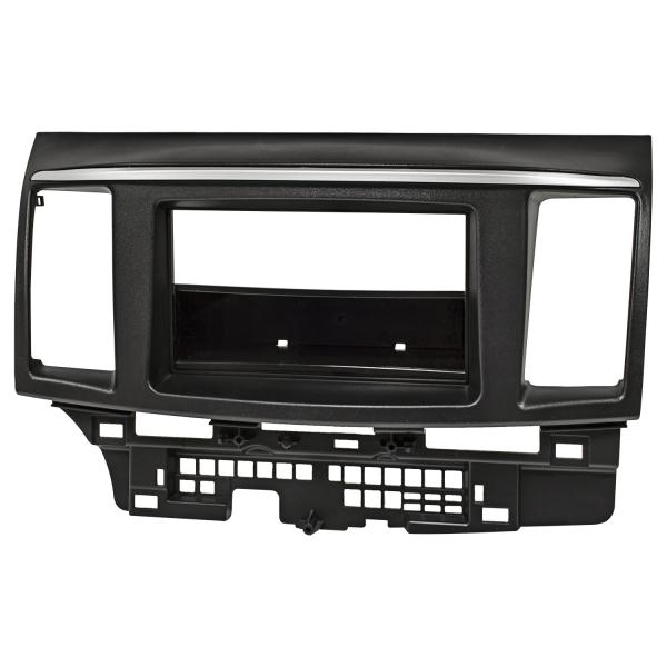 Doppel DIN Radioblende kompatibel mit Mitsubishi Lancer 2008-2017 schwarz
