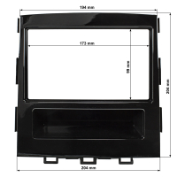 Doppel DIN Radioblende kompatibel mit Subaru Impreza XV ab 2018 Piano Lack schwarz